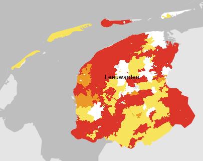 Terugleveringskaart Friesland