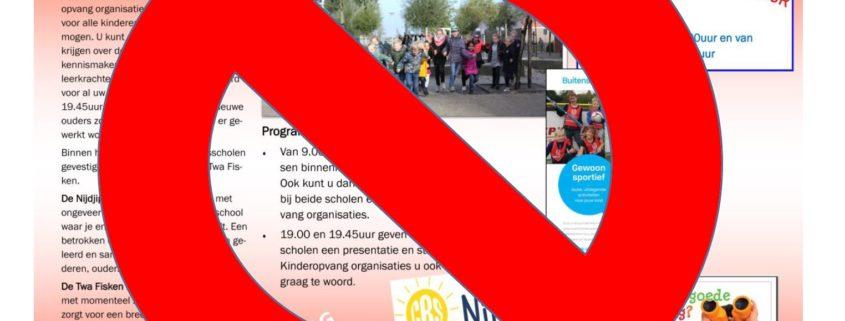 open dag basisscholen gaat niet door