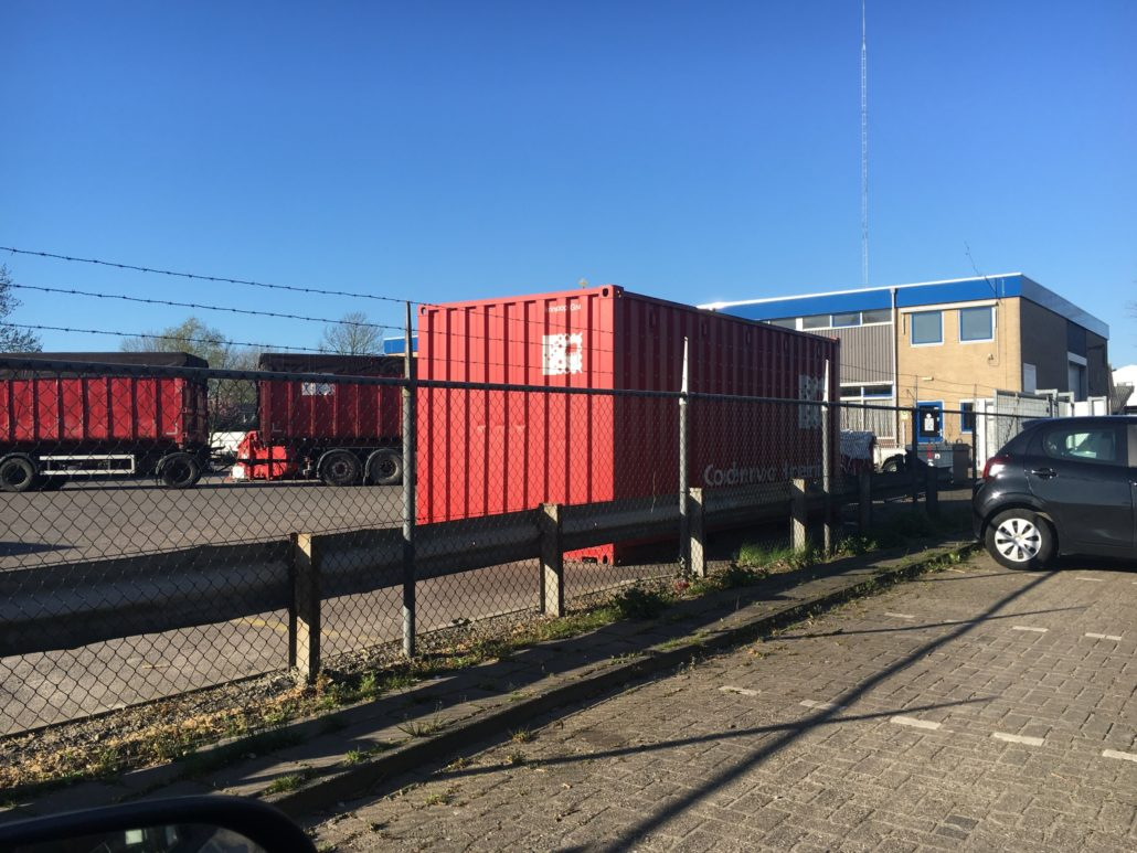 Omrin Milieustraat Grou containers