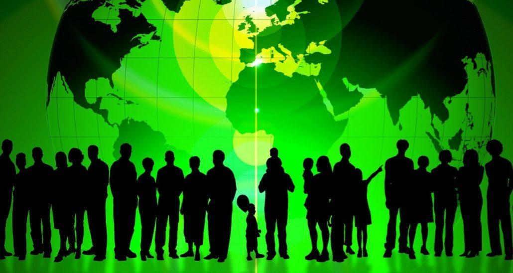 De voetprint van de groene aarde