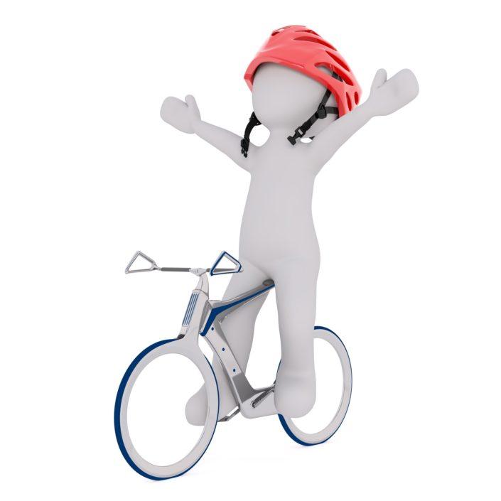 Naakte man fietst door Grou