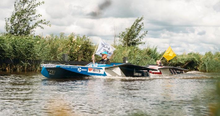 Zonneboot Elfstedentocht