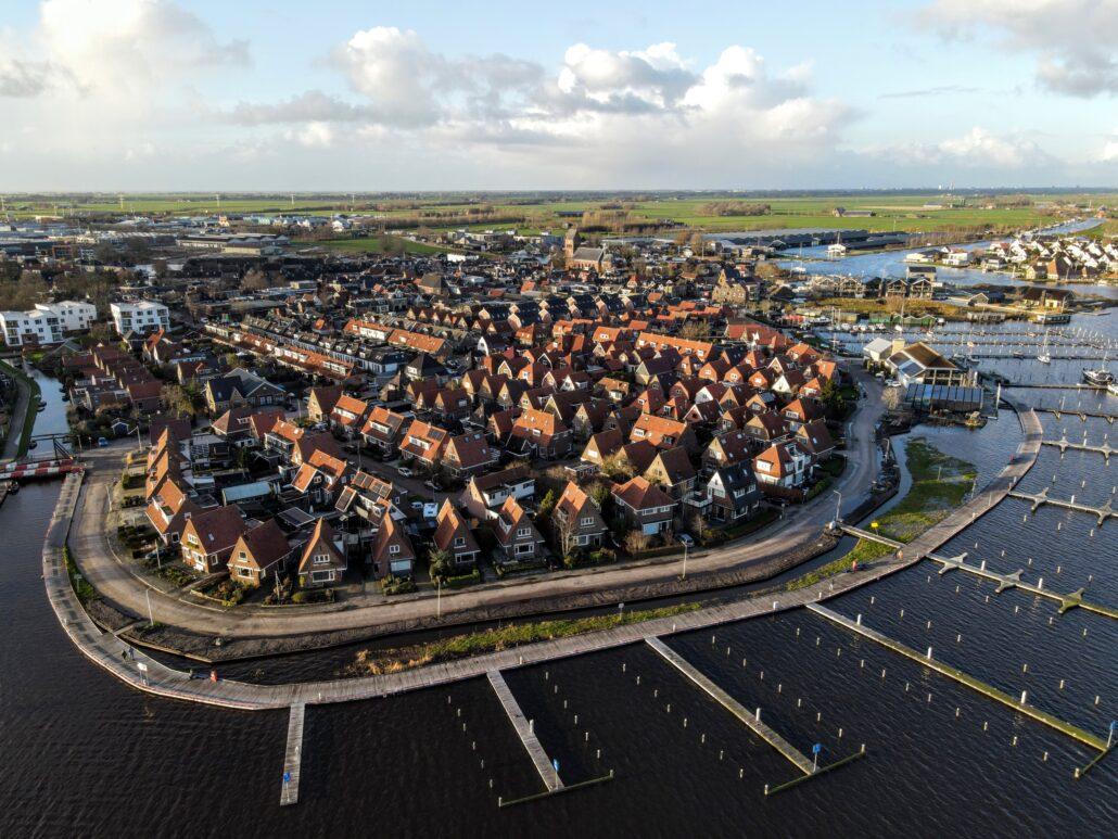 Dronefoto Meersweg Grou