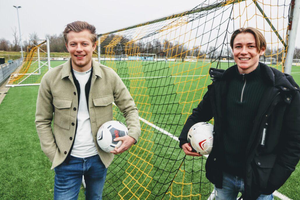Voetbalkamp GAVC Grou Max Hof en Jens van der Heide organisatoren voetbalkamp Grou 2021