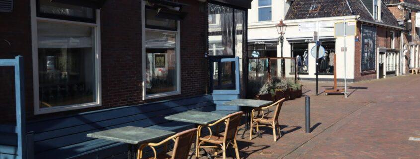 lege terrassen in zonnig Grou
