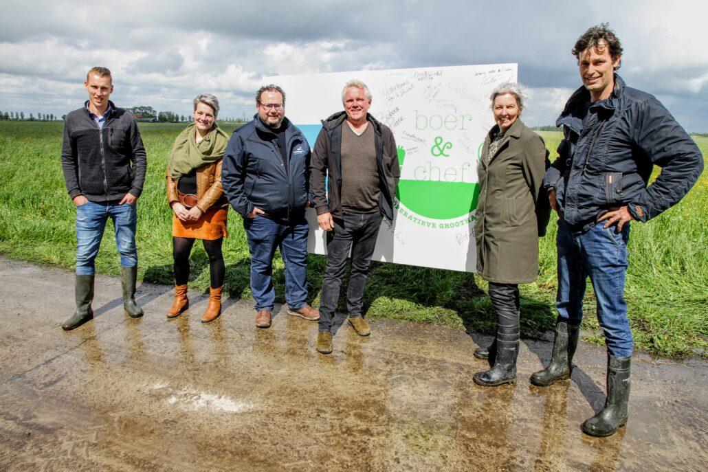 Leden van de nieuwe coöperatie Boer & Chef.