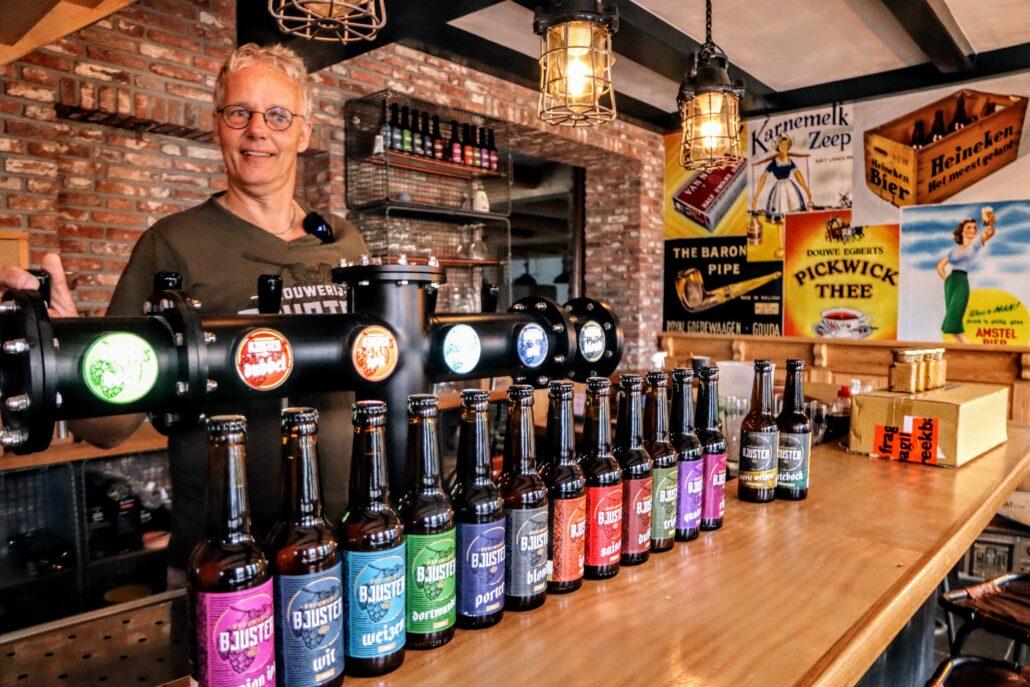Alle varianten van het Bjuster Bier op een rijtje.