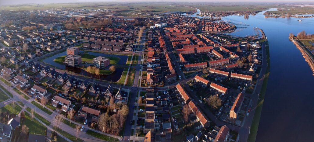 Dronefoto panorama Grou