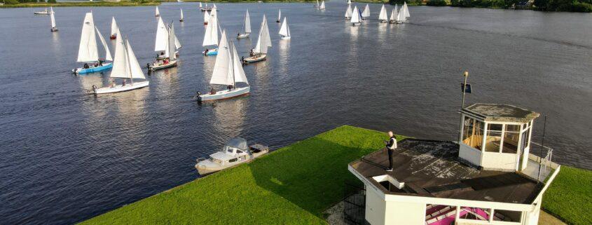 Jeugdzeilen in Grou. Dronefotografie Friesland: Press4All