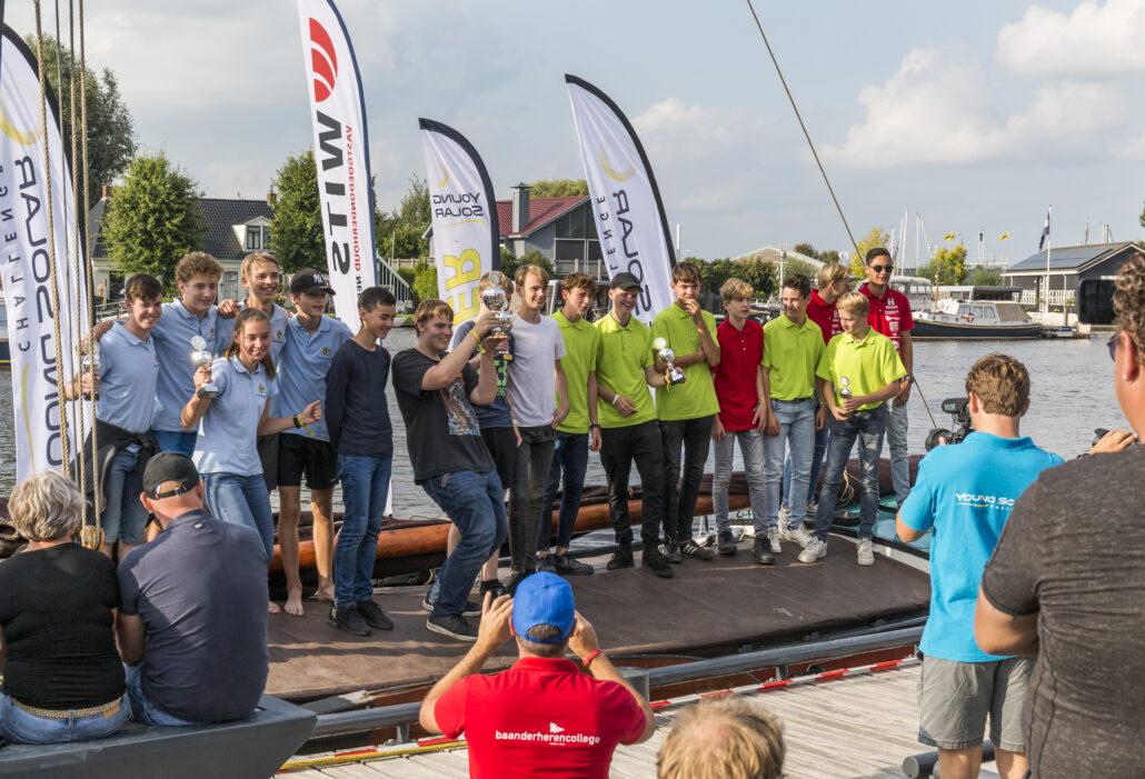 Zonneboot Drachtster Lyceum Nederlands Kampioen in Grou