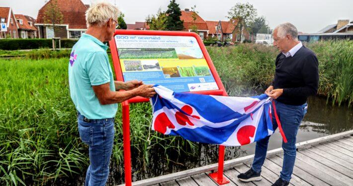 Informatiepanelen verlanding Meersweg Grou. Foto: Press4All